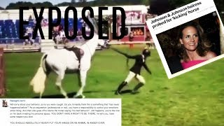 johnson johnson idiot abuses horse at show a message to usef