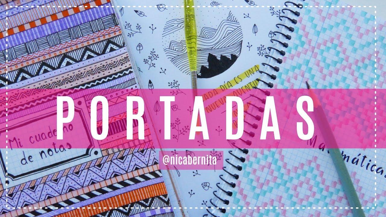 Carátulas Y Portadas Para Cuadernos Cuadriculados Agendas Y Libretas Decorar Cuadernos Tumblr