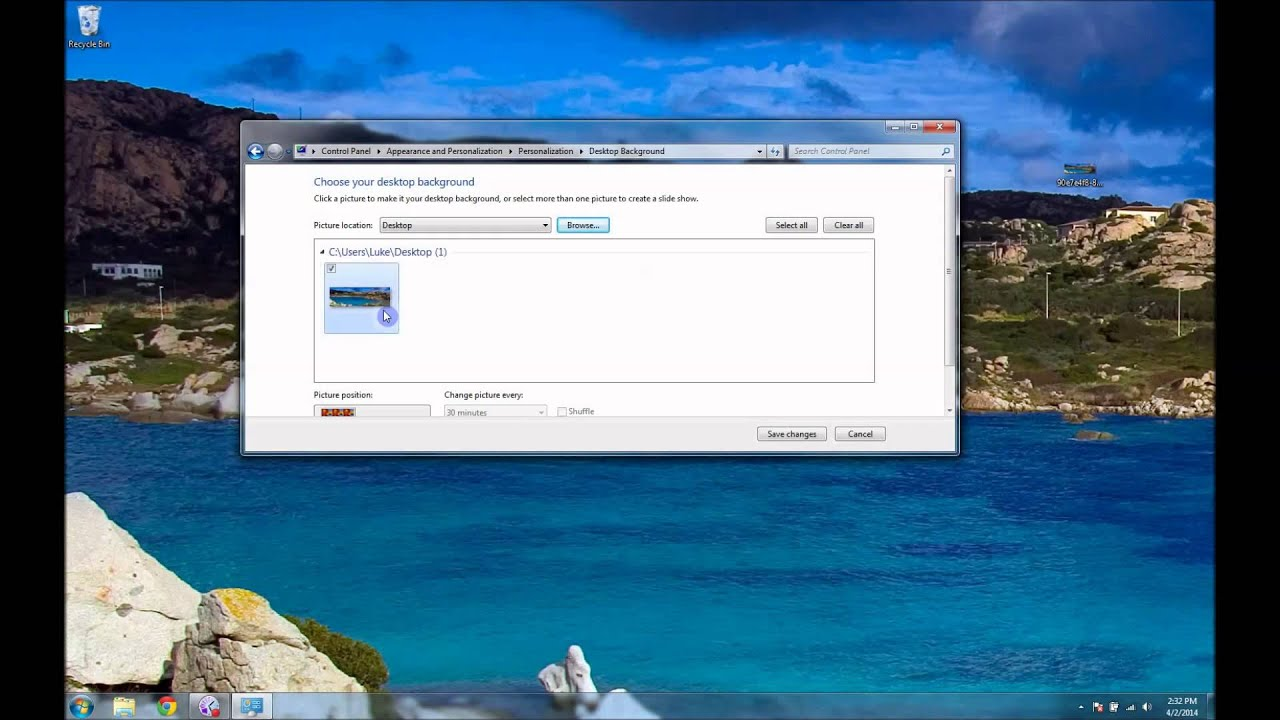 how to easily make desktop backround panoramic over multiple monitors windows 7 or earlyer youtube