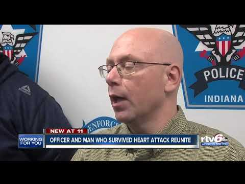Officer reunites with man he saved having heart attack