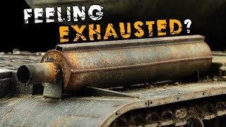 The Most Exhausting Video Ever - Rusty Exhausts With Remnants Of Peeling Paint