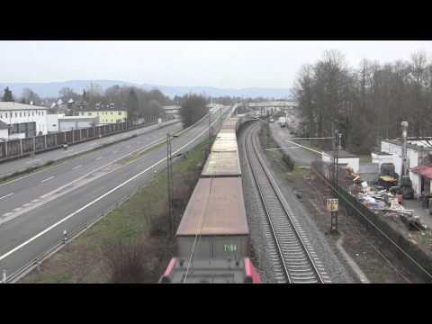Rail Traffic at Bad Honnef, Nordrhein-Westfalen, Germany - 25th March, 2015