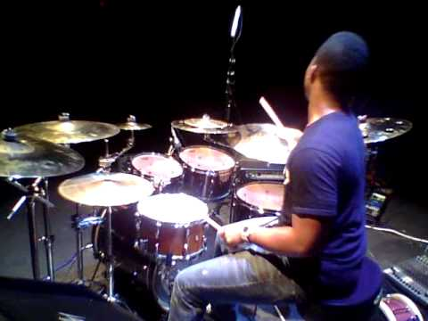Aaron Stix Smith at Drum Clinic In Michigan.