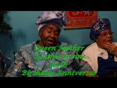 QUEEN MOTHER CYNTHIA IRVINE BIRTHDAY THANKSGIVING SERVICE