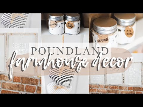 DIY POUNDLAND *FARMHOUSE* DECOR