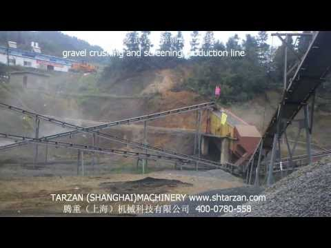 China gravel crushing and screening line