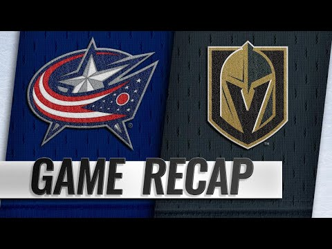 Blue Jackets rally to beat Golden Knights, 4-3