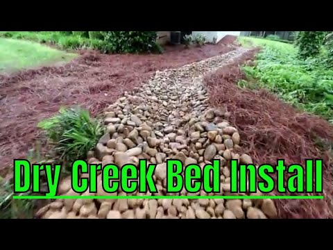 2018 Lawn Care | Installing Dry Creek Bed