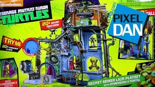 Nickelodeon Teenage Mutant Ninja Turtles Secret Sewer Lair 2.0 w/ Dimension X Portal Playset Review