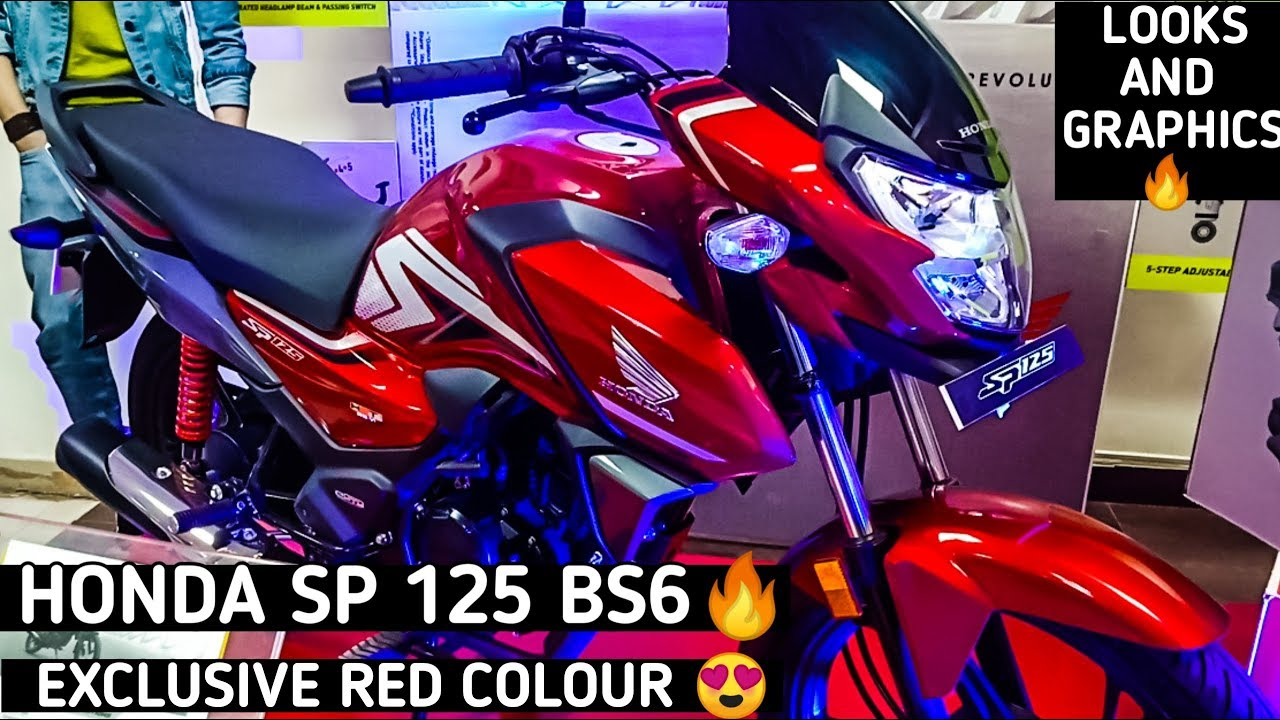 Honda Sp 125 Bs6 Red Black Lookaround Video Looks And Graphics