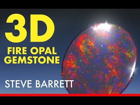 MODO Beginners: Gemstones • FIRE OPAL • 3D Modeling and Texturing - Modo 11.2
