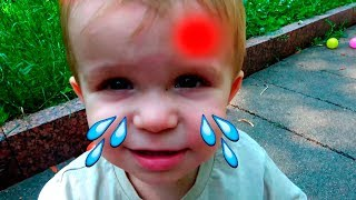 Boo boo story with little Andrew\Boo boo song + more  Nursery Rhymes & Kids Songs
