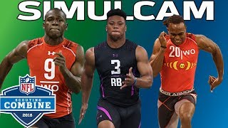 40-Yard Dash Simulcam: Barkley vs. AB, Julio & More! | NFL Combine Highlights