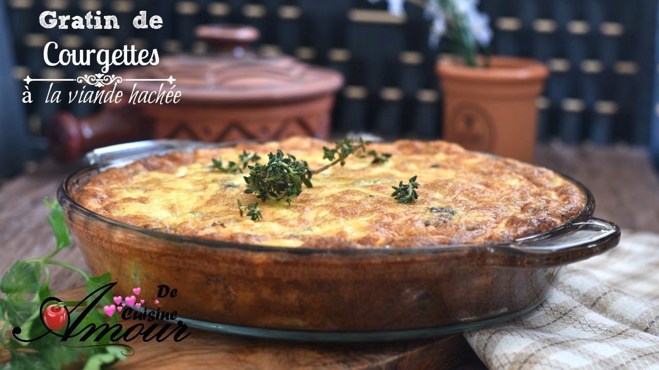 Gratin De Courgettes A La Viande Hachee Repas Pour Diner Facile Et
