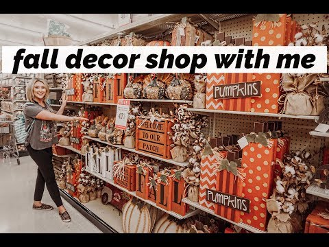 SHOP WITH ME FOR FALL DECORATIONS AT HOBBY LOBBY!