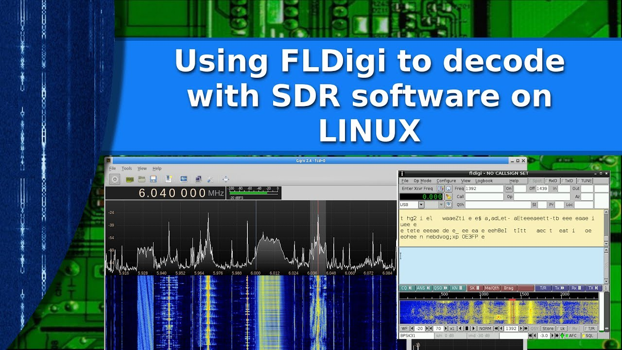 Ham Radio - Linux - Decoding signals from your SDR using FLDigi and Pulse  Audio