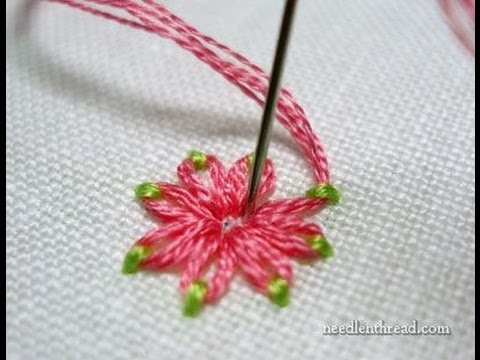 Embroidery Stitches Flowers Stitch Fun Daisy Stitch In Two Colors