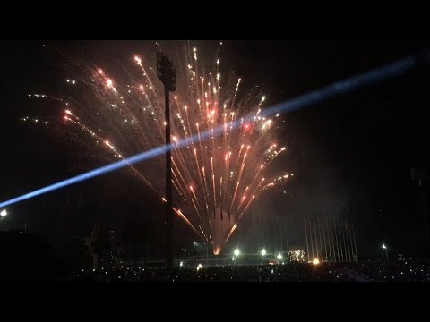 Amazing-Firework at Olympic Stadium for Opening The First National Sport Competition in Cambodia.