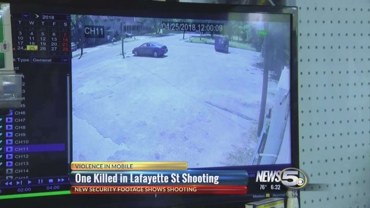 Security footage shows Lafayette St  shooting