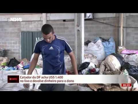 Após devolver US$ 1,4 mil achados no lixo, catador do DF ganha emprego veja vídeo