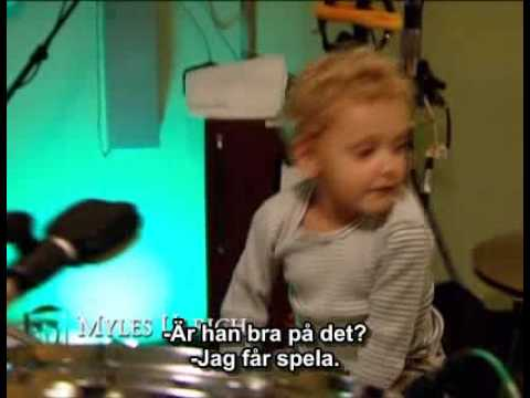 Lars' son on the drums