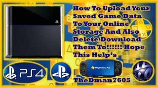 How To Upload Your Saved Game Data To Your Online Storage Also Download/Delete