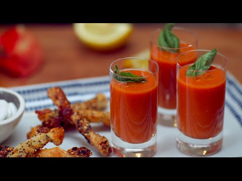 Seinfeld: No Soup for You Tomato Shooters with Everything Bagel Twists