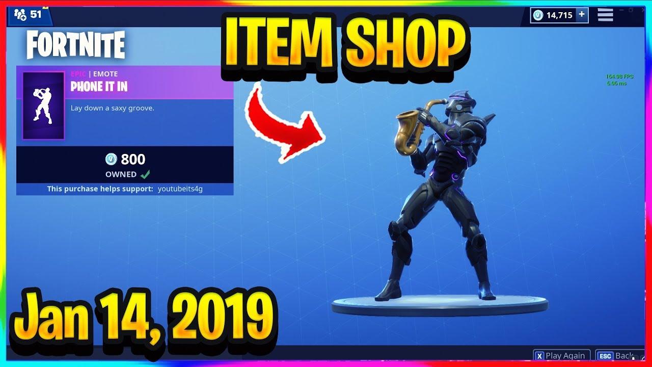 fortnite item shop 14 january 2019