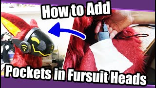 //Tutorial #95// How To Add Pockets on Fursuit Heads