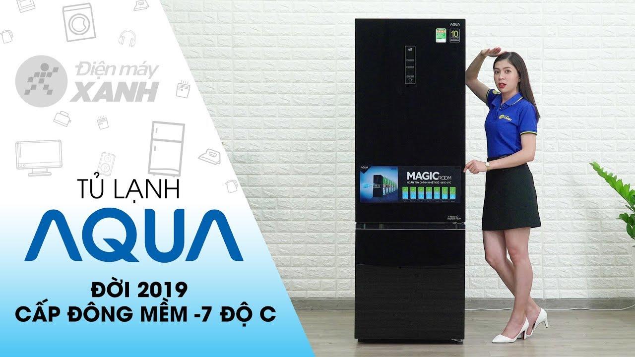 Tủ lạnh Aqua Inverter 324 lít AQR-IG378EB GB: Ngăn đông mềm 7 chế độ | Điện máy XANH
