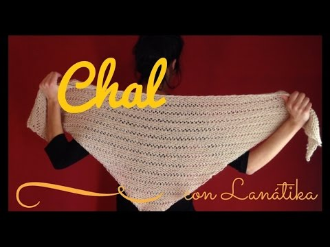 CHAL TRIANGULAR fácil (tricot / dos agujas rectas) - YouTube