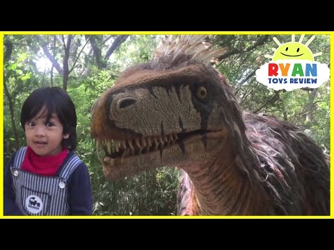 Thumbnail: GIANT LIFE SIZE DINOSAUR IN REAL LIFE THEME PARK train ride Family Fun Activities for Children