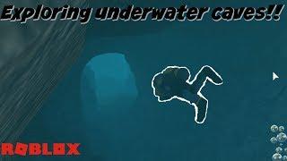 EXPLORING UNDERWATER CAVES IN ROBLOX!!! (SCUBA DIVING!)