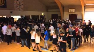 Eleverne danser om træet
