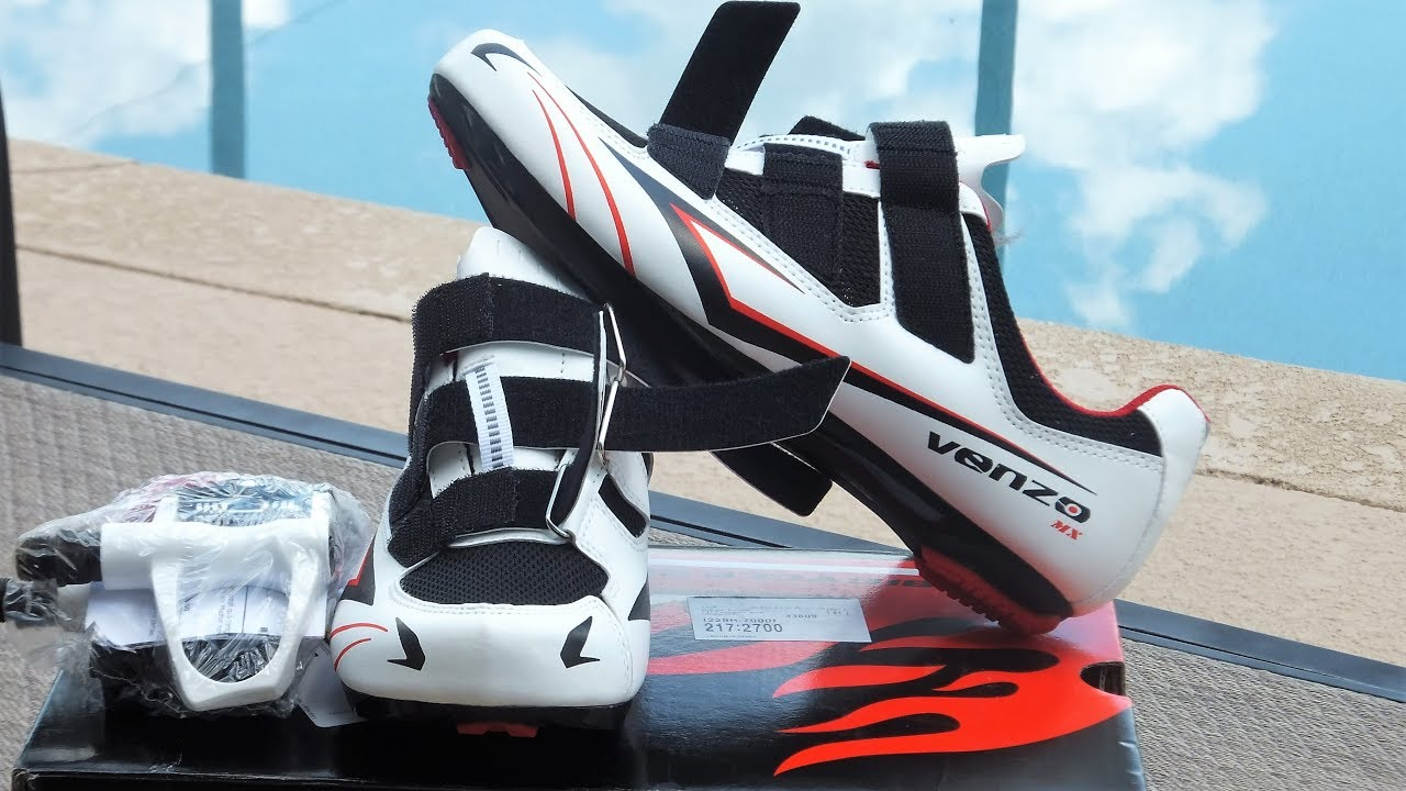 60a48ba3d53 Venzo Cycling Shoes & Pedals - YouTube