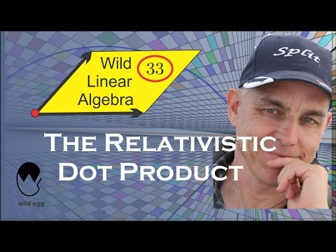 Wild Linear Algebra 33: The relativistic dot product