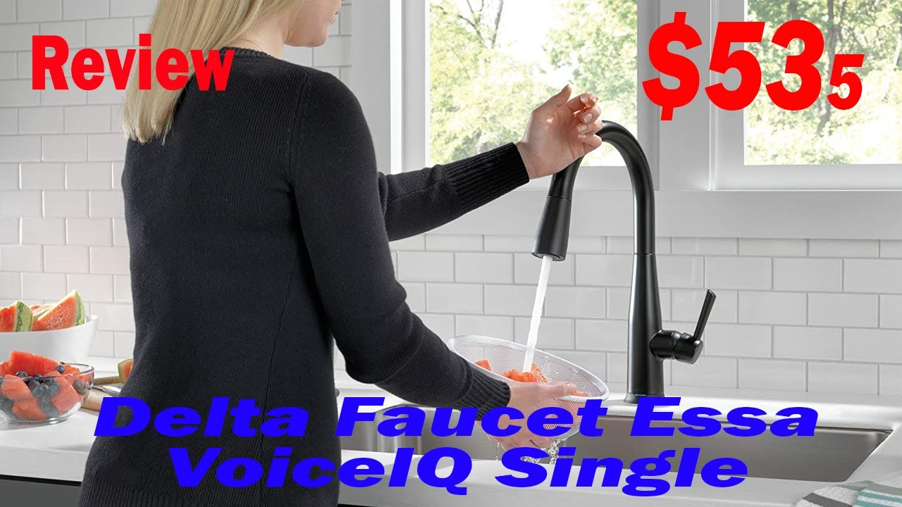 Delta Faucet Essa Voiceiq Single Handle Touch Kitchen Sink Faucet Review 2020 Youtube