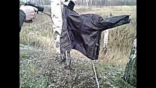 Grand Power T12 убойная сила 1, 2, 5, 10 метров, кожаная куртка(Суть теста, эффективность травматического оружия, с разных дистанций, по противнику в кожаной куртке., 2012-12-17T19:26:38.000Z)