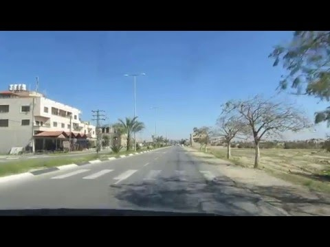 The Road to Jericho, the Palestinian Authority - Traveling on the main road into the city center