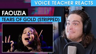 Voice Teacher Reacts to Faouzia - Tears of Gold