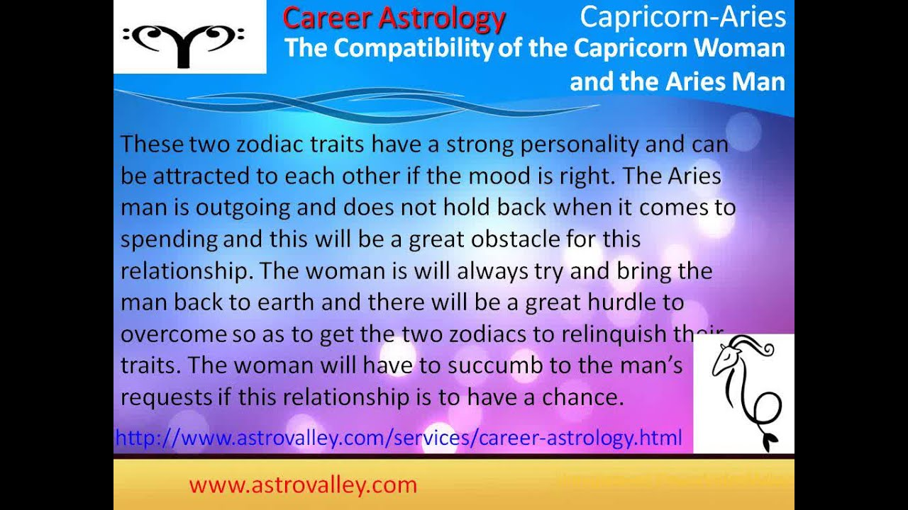 Capricorn And Aries Love Relationship Youtube