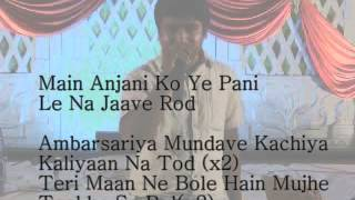 Ambarsariya karaoke with lyrics by Nitesh
