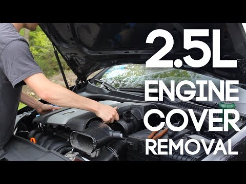 How to Remove a Volkswagen Engine Cover (2.5L)