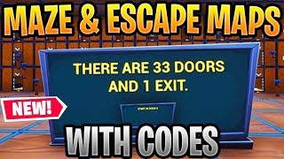 Best MAZE & ESCAPE Maps In Fortnite Creative Season 8 WITH CODES (Riddle Maze, Escape Maze 2 & More)