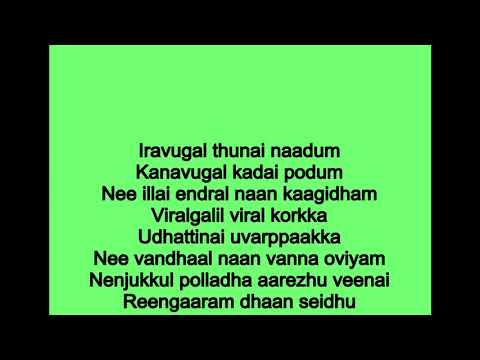 Thoovanam thoova thoova karoake With Lyrics