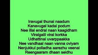Thoovanam thoova thoova karoake With Lyrics