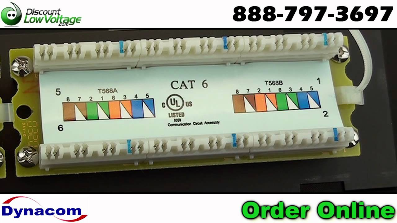 568b Patch Panel Wiring Diagram Schemes Also Cat 6 Further Rj45 Cat6 Connector 12 Port Wall Mount Network Ethernet Youtube Rh Com Jack 568a