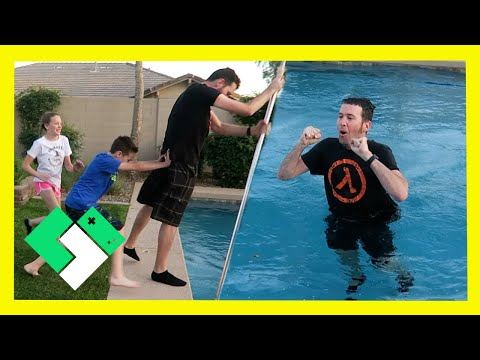 PUSHED INTO THE POOL! 😱 (Day 1832) | Clintus.tv