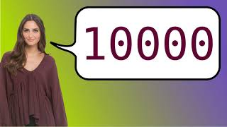 How to say '10000' in French?