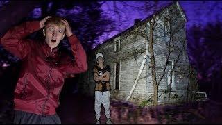 24 Hour Overnight Challenge At Haunted House! *Gunshots*